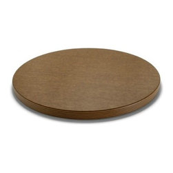 "Epicurean - Epicurean Big Block Series 18"" Round Cutting Board - Nutmeg/Natural - If you think bigger is better, Epicurean® Big Block Cutting Boards are for you. These hefty boards are a full one-inch thick with non-slip rubber feet on the bottom. They mean business and are best left on the counter for easy access. Choose your size. Choose your color. You can't butcher these boards. They last through years and years of wear and tear!"