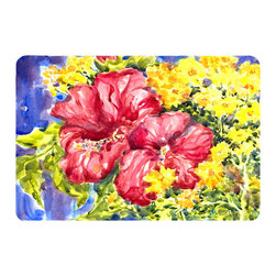 Caroline's Treasures - Flower - Hibiscus Mouse Pad, Hot Pad, Or Trivet - Mouse Pad, hot pad or trivet ... Long lasting polyester surface provides optimal tracking. Sure-grip rubber back. Permanently dyed designs. 7 3/4 inches x 9 1/4 inches.  Heat Resistant up to 400 degrees.  Let something from the oven rest on the stove before placing it on the mouse pad as it will scorch the fabric on the top of the pad.  Use as a large coaster for multiple drinks or a pitcher.