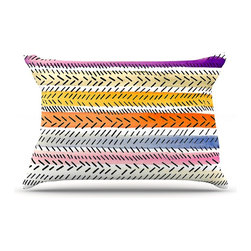 "Kess InHouse - Sreetama Ray ""Dash 3"" Dashed Paint Pillow Case, King (36"" x 20"") - This pillowcase, is just as bunny soft as the Kess InHouse duvet. It's made of microfiber velvety fleece. This machine washable fleece pillow case is the perfect accent to any duvet. Be your Bed's Curator."