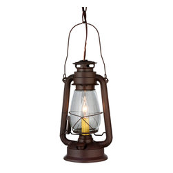 "Meyda Lighting - Meyda Lighting 7"" W Miners Lantern Mini Pendant - Reminiscent Of Days Of Yore, The Meyda Miners Lantern Is Perfect For A Variety Of Indoor And Outdoor Applications In A Home, Restaurant, Retail Store Or Hotel. A Classic, Nostalgic Design With An Electric Candlelight Inside. Hand"