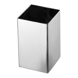 Gedy - Square Polished Chrome Toothbrush Holder - Decorative square stainless steel toothbrush holder in chrome finish.