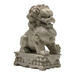 Cyan Design - Foo Dog Statue - Foo dog statue - off-white.