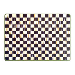 Courtly Check Cork Back Placemats - Set of 4 | MacKenzie-Childs - Top your table with our most popular pattern. The heat-resistant lacquered surface features a Courtly Check® art print, on hard-board substrate that is backed with natural cork. For a summer picnic or a holiday feast, the simple elegance of these placemats add a classic warmth to the table.