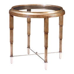"""Marge Carson - Marge Carson Bossa Nova Lamp Table - The Marge Carson Living Room Bossa Nova Lamp Table. Diameter: 30"""" Height: 29""""    Please allow up to 8 weeks for shipping"""