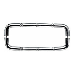 "Top Knobs - Nouveau Ring Back to Back Door Pull - Polished Chrome - Length - 18 3/4"", Width - 3/4"", Projection - 2 1/2"", Center to Center - 18"", Base Diameter - 3/4"""