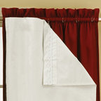 Eclipse - Eclipse Thermalayer Thermaliner Blackout Curtain Liner (Pair) - 10332054X060WH - Shop for Curtains and Drapes from Hayneedle.com! Do you wish your curtains blocked more light? With the Eclipse Thermalayer Thermaliner Blackout Curtain Liner (Pair) you can block out all of the light coming in through your window and not have to buy new curtains. And they don't just block out light - they also reduce noise. These blackout liners attach directly to the curtains you already have so you don't lose any of your personal window-dressing style. Just attach them and you won't have to worry about the morning light and those morning noises disturbing your sleep ever again. It's the easiest ways to block out the light without replacing all of your window dressings.