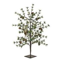 PRODUCTS   Outdoor Christmas Decorations - Balsam Hill LED Pinecone Trees