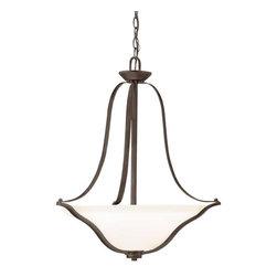 Kichler Lighting - Kichler Lighting 3384OZ Langford Transitional Pendant Light In Olde Bronze - Kichler Lighting 3384OZ Langford Transitional Pendant Light In Olde Bronze