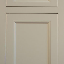 New Door Styles and Finishes - Traditional, Inset Face Frame, Recessed Panel Door with matching drawer front, shown in a custom tinted Valspar Conversion Lacquer.