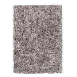"""Jaipur - Jaipur Flux  FL02 RUG101747 Area Rug - Personal expression reaches new heights with Flux, a beautiful range of plush, hand-woven shag rugs of 100 percent polyester. This """"chameleon"""" is ideal for the contemporary design lover who enjoys mixing up his or her personal space often - acting as a rich background to a diverse palette of furnishings and accessories. Highly textured shag construction brings comfort underfoot while a palette of fashion forward solid hues commands attention in any room."""