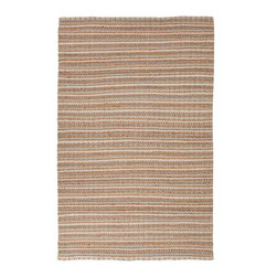 Jaipur Rugs - Naturals Solid Pattern Cotton/ Jute Taupe/Ivory Area Rug ( 5x8 ) - The Andes collection is hand-woven with jute and recycled Chindi cotton fabric for touches of both color and a softer feel. Eco friendly and durable, these rugs fit in a variety of homes. Origin: India