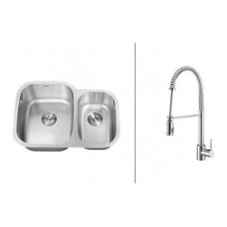 Ruvati - Ruvati RVC2506 Stainless Steel Kitchen Sink and Chrome Faucet Set - Ruvati sink and faucet combos are designed with you in mind. We have packaged one of our premium 16 gauge stainless steel sinks with one of our luxury faucets to give you the perfect combination of form and function.