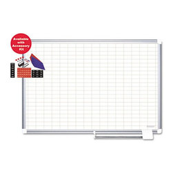 MasterVision - MasterVision 48 x 36 in. Grid Planning Dry Erase Board with Accessories Multicol - Shop for Bulletin Boards from Hayneedle.com! Featuring a grid-patterned surface the MasterVision 48 x 36 in. Grid Planning Dry Erase Board with Accessories is ideal to present charts maps and graphs. It can be used in offices schools hospitals and other commercial sectors as well. A wall-fastening kit makes it easy for you to mount this board. Built to be durable it s made with high-quality porcelain and an aluminum frame. You can also keep all your accessories on the board s sliding tray for convenience.About United StationersDedicated to making life in the office more organized efficient and easier United Stationers offers a wide variety of storage and organizational solutions for any business setting. With premium products specifically designed with the modern office in mind we're certain you will find the solution you are looking for.From rolling file carts to stationary wall files every product in the United Stations line is designed with one simple goal: to improve office efficiency. In turn you will find increased productivity happier more organized employees and an office setting that simply runs better with the ultimate goal of increasing bottom line profits.