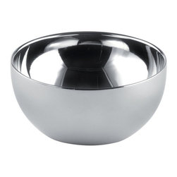 Alessi - Alessi 'Double' Small Bowl, Set of 2 - Don't you just hate it when your ice cream starts melting soon after you scoop it into the bowl? Avoid irritation with these thermal-insulated, double wall bowls. Now your ice cream will stay icy cold until the last bite.