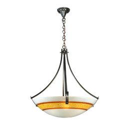 """Meyda Lighting - Meyda Lighting 111186 26""""W Saturno Fused Glass Inverted Pendant - Meyda Lighting 111186 26""""W Saturno Fused Glass Inverted Pendant"""