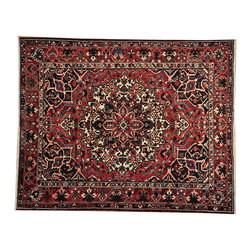 100% Wool Hand Knotted Exc Cond 10x13 Semi Antique Persian Bakhtiari Rug SH14862 - Hand Knotted Persian Rugs From Iran are know to be the highest quality rugs from around the world.  The weavers from Iran are also known to be the most skilled.  There's many different persian designs and these designs are derived from the city that they're woven in.
