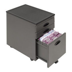 Calico Designs - Calico Designs Metal File Cabinet - Pewter - 51101BOX - Shop for File and Storage Cabinets from Hayneedle.com! If you've got limited space the Calico Designs Metal File Cabinet - Pewter is perfect for rolling underneath a desk or table. Rolling casters make this file cabinet mobile but with two locking casters it'll stay where you need it. Security won't be a problem with these three locking drawers. The two top drawers are perfect for supplies while the versatile bottom file drawer is ready to accomodate letter- or legal-size hanging files. Plus you'll never have to worry about a heavy drawer tipping over because the design features a fifth wheel in the front specifically for balance.Drawer Dimensions:Top 2 drawers: 12.5W x 17D x 2.25H inchesBottom drawer: 12W x 15D x 10H inchesAbout Studio Designs OfficeStudio Designs has 24 years of experience in the ready-to-assemble Arts and Crafts Furniture and Easel industry. They seek to inspire artists young and old through the simplicity and utility of their designs. They are based in Commerce California.