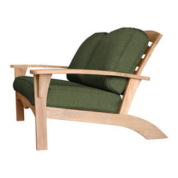 Douglas Nance - Douglas Nance Augusta Deep Seating Loveseat, Fern - Douglas Nance Augusta is a leap away from the ordinary. This collection combines the Americana feel of an Adirondack chair with the grand comfort and style of fine teak deep seating furniture - and it reclines! Includes made-to-order Sunbrella cushion available in ten colors (Capri, Navy, Chili, Dolce, Fern, Marina, Natural, Parrot, Spa, Westin).