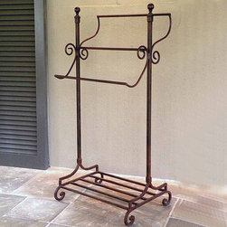 Abbey Road Blanket/Towel Stand - Traditional in style and functional in purpose, this Abbey Road Blanket/Towel Stand is beautiful and sturdy. This towel stand can display towels or blankets in any area of your home.