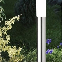 CMD - Aqua Polo - modern outdoor path light - The Aqua Polo floor light is designed and produced for outdoor use by CMD. It is finished in stainless steel and features a satined glass. Superior Quality made in Germany with a 10 years manufacturers warranty against rust.