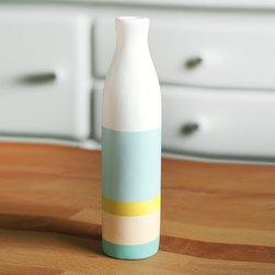Painted Ceramic Vase by ShadeonShape on Etsy -