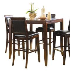 American Drew - American Drew Tribecca Square/Rectangular Wood Top Bar Table in Root Beer Finish ...