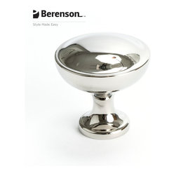 9259-1014-P Polished Nickel Cabinet Knob by Berenson - 1 3/16 inch diameter traditional style cabinet knob by Berenson in Polished Nickel.