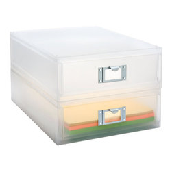 Portrait Paper Drawer - Do you also pay your bills and open your snail mail in the kitchen? I've been looking for something like this set of drawers to organize all that paperwork and still look neat on my white shelves.