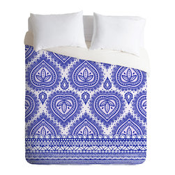 DENY Designs - Aimee St Hill Decorative Blue Duvet Cover - Turn your basic, boring down comforter into the super stylish focal point of your bedroom. Our Luxe Duvet is made from a heavy-weight luxurious woven polyester with a 50% cotton/50% polyester cream bottom. It also includes a hidden zipper with interior corner ties to secure your comforter. it's comfy, fade-resistant, and custom printed for each and every customer.