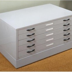Studio Designs Light Grey Flat File with Optional Base - Fits 37 by 25.75-inch sheet size: 40 ...