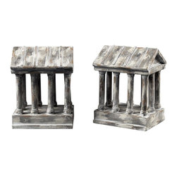 Sterling Industries - Aged Colum Bookends - AGED COLUM BOOKENDS