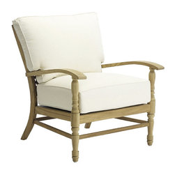 Frontgate - Yacht Outdoor Lounge Chair with Cushions, Patio Furniture - Marine-grade Burmese teak is ideal for any environment, including beach and oceanfront destinations. Mortise-and-tenon construction provides long-lasting durability. As with all teak products, a natural patina will occur over time. Cushions are covered in exclusive Sunbrella&reg fabrics, the finest solution-dyed, all-weather material available. The Yacht Lounge Chair by Summer Classics&reg offers solid, marine-grade teak frame with waterfall arms, turned front legs, and solid brass accents that capture the romance of a sea voyage. Hand-cut teak pieces are notched to create the exquisite back detailing. Generously proportioned seating accommodates plush Sunbrella&reg outdoor cushions. Part of the Yacht Collection by Summer Classics&reg .  . . . Note: Due to the custom-made nature of the cushions, any fabric changes or cancellations made to the Yacht Collection must be made within 24 hours of ordering.