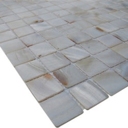 "Mother Of Pearl Oyster White Tile - sample-MOTHER OF PEARL OYSTER WHITE 1/4 SHEET GLASS TILES SAMPLE You are purchasing a 1/4 sheet sample measuring approximately 6"" x 6"". Samples are intended for color comparison purposes, not installation purposes. -Glass Tile -"