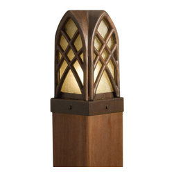 Kichler - Kichler 15479TZT Cathedral Post Low Voltage Deck & Patio Light - Cathedral - Kichler Landscape Single Light Outdoor Post Light from the Cathedral CollectionCathedral arches and interwoven bands designed to crown deck posts and walls