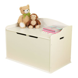 KidKraft - Austin Toy Box - White by Kidkraft - Our Austin Toy Box lets kids keep all of their favorite toys in one convenient place. This sturdy toy box was built to last and would fit right in with any room setting.