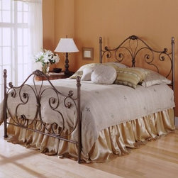 Aynsley Bed - The whimsical scrollwork of the Aynsley Bed gives it a light and airy look. With sweeping lines the 59.375-inch headboard and matching 43.375-inch footboard are the perfect backdrop for your puffiest pillows and softest comforter offering a nurturing sanctuary in which you'll want to spend plenty of time. Each finish is sealed with a protective lacquer for lasting beauty.About Fashion Bed GroupFashion Bed Group is a Leggett and Platt Company known for its innovative fashion beds daybeds futons bunk beds bed frames and bedding support. Created in 1991 Fashion Bed Group is a large consolidation of three leading bed manufacturers. Its beds are manufactured of genuine brass plated brass cast zinc cast aluminum steel iron wood wicker and rattan. Fashion Bed Group's products are distributed throughout North America from warehouses located in Chicago Los Angeles Houston Toronto and Ennis Texas.
