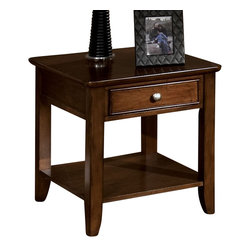 Standard Furniture - Standard Furniture Hialeah Court 24 Inch End Table in Warm Cherry - 24 Inch End Table in Warm Cherry belongs to Hialeah Court collection by Standard Furniture. The Hialeah Court, by Standard Features a modern look through a blend of smooth lines and complimentary accents.
