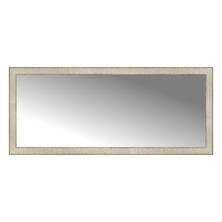 """Posters 2 Prints, LLC - 54"""" x 23"""" Libretto Antique Silver Custom Framed Mirror - 54"""" x 23"""" Custom Framed Mirror made by Posters 2 Prints. Standard glass with unrivaled selection of crafted mirror frames.  Protected with category II safety backing to keep glass fragments together should the mirror be accidentally broken.  Safe arrival guaranteed.  Made in the United States of America"""