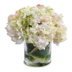 New Growth Designs - Hydrangea Bouquet - Hearty and full hydrangeas make the perfect floral accent for your favorite setting. Perhaps the best thing about this bouquet is that it lasts happily ever after. Silk blooms so lifelike and lovely, everyone will think you cut them from your garden this morning.