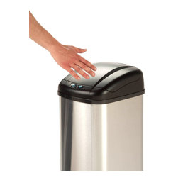 Honey Can DO - Sensor Trash Can - 52 Liter - Our Motion Sensing Trash Can, Stainless Finish. Make garbage less of a mess with this convenient motion sensing touchless 52Liters trash can boasts sturdy construction for daily use.The motion-activated lid automatically opens and closes, keeping your hands away from any lingering germs. If needed, the lid can also open with the push of a relative button. The can is battery operated, allowing it to be placed away from precious electrical outlets.
