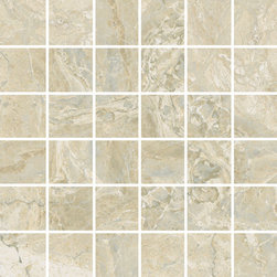"""StonePeak Ceramics - Classic Cremino Mosaic - Classic and sophisticated timeless porcelain marbles available in three popular colors. Ideal for floors and wall applications, the Classic collection offers 12""""x24"""" and 12""""x12"""" with matching trims and decorative mosaics."""