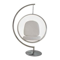 Modway - Ring Chair Chair With White Pillows - Eei-111-Whi - Clear Acrylic