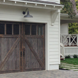Wood Stained Garage Doors - These beautiful Carriage House Garage Doors are available at ADS Garage Systems
