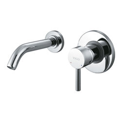 Vigo - Vigo Single Lever Wall Mount Chrome Faucet - Try something new with this unusual wall mounted Vigo faucet. Vigo's standards for quality and style are unmatched