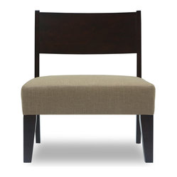 Bryght - Keitaro Light Cappuccino Lounge Chair - Relaxed and refined, the Keitaro lounge chair exudes warmth with its super comfortable seat, sturdy and dependable wood construction. A beautiful accent piece ideal for any living space. The Keitaro lounge chairs look perfect if placed as a pair!