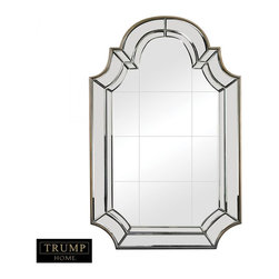Joshua Marshal - Tiled Face Mirror With Bevelled And Curved Edging - TILED FACE MIRROR WITH BEVELLED AND CURVED EDGING
