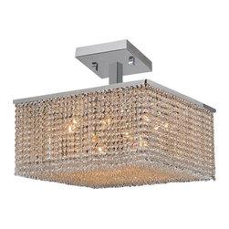 Worldwide Lighting - Worldwide Lighting W33735C20 Prism 12 Light Semi-Flush Ceiling Fixture - Features:
