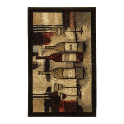 Mohawk - Mohawk New Wave Wine And Glasses Rug - 10291 426 020045 - Shop for Drinkware from Hayneedle.com! About Mohawk IndustriesBacked by 125 years of excellence Mohawk Industries is one of the world's leading producers of area rugs. This remarkable company was founded in 1878 when four brothers from the Shuttleworth family brought a number of secondhand looms from England to New York. Thanks to their dedication to quality innovation and excellent customer service Mohawk is now the most recognized carpet brand in the country responsible for a variety of popular and prestigious names in the industry. The company is based in Calhoun Georgia where their high-quality value-oriented rugs are designed manufactured and marketed.