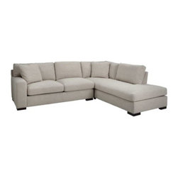 Z Gallerie - Cameron Sectional - 2PC - Clean lines and deep seated comfort is what the Cameron Collection is about. Low deep cushions and plush pillows invite and allow for the ideal lounging experience. Feather and down upgrades are standard in this collection making it an exceptional value. Clean lines on the arm and double-stitched seams on all cushions keep the lines sharp and contemporary. The Cameron Collection is exclusive to Z Gallerie and made in the USA.