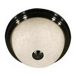 """vaxcel - Brushed Nickel And White Mottle Glass 3 Light Ceiling Fixture 15"""" - Fabulous Ceiling  Fixture With Brushed Nickel Finish And White Mottle Glass.  D=15"""", H=8.1""""  This Incredible Fixture Takes 3-60 Watt Bulbs, ***BULBS Not Included*** UL Approved"""